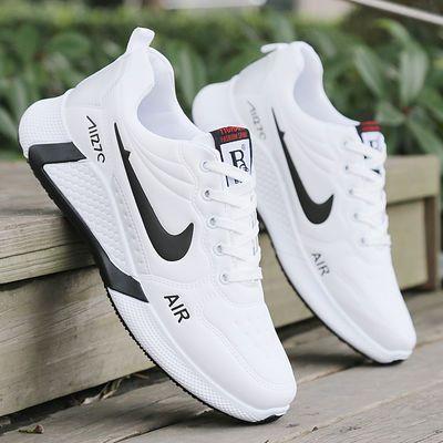 2020春季男鞋运动鞋男小白鞋百搭板鞋休闲鞋白色跑步鞋学生潮鞋子