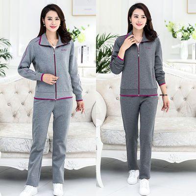 新款中老年春秋妈妈运动套装,女士休闲,晨练户外运动首选服饰