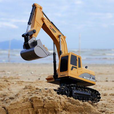 遥控挖掘机合金挖土机儿童玩具工程车男孩礼物汽车勾机汽车模型