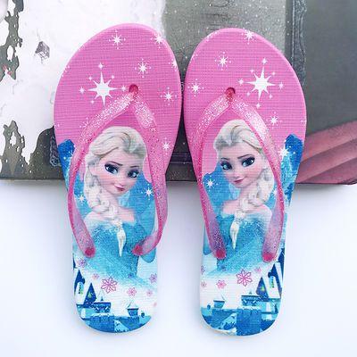 儿童人字拖夏季女小孩子可爱时尚沙滩公主夹脚女童宝宝防滑凉拖鞋