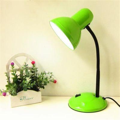 金属台灯护眼书桌大学生台灯卧室床头创意插电LED灯泡台灯E27螺口