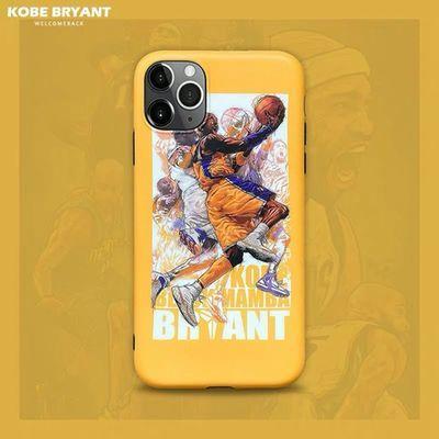 科比手机壳苹果XR/X黑曼巴iPhoneXS Max套11Pro磨砂kobe潮NBA篮球