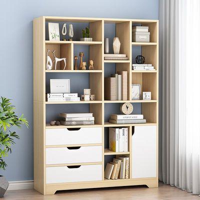 书架置物架落地简约家用客厅收纳储物柜经济型实用简易小书柜创意