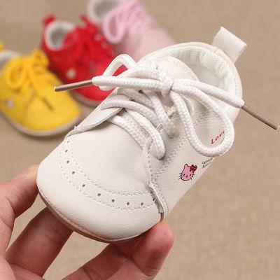 春秋新款0-1岁女宝宝学步鞋6-12个月婴儿软底防滑小童鞋包头不掉2