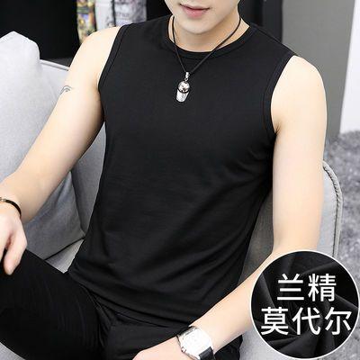 莫代尔背心男士夏季纯色运动跨栏汗衫坎肩打底衫无袖t恤潮流韩版
