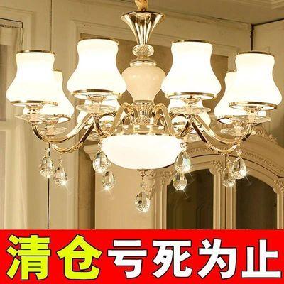 简欧客厅灯欧式锌合金吊灯卧室灯餐厅吊灯别墅复式楼大厅灯具灯饰