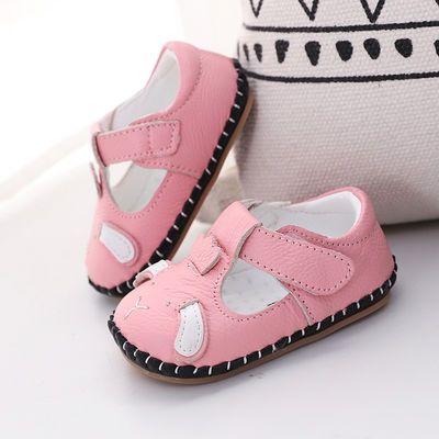 春秋新款6-12个月女宝宝学步鞋子 0-1岁软底防滑婴儿步前鞋秋不掉