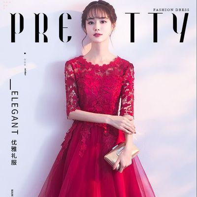 敬酒服新娘服装红色短款2019新款订婚结婚小个子礼服女裙回门服女