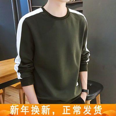 新款卫衣男春秋男士上衣韩版休闲圆领长袖t恤学生男装潮开学季