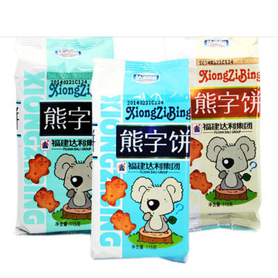 【狂欢价】达利园熊字饼 手指饼干115g儿童休闲可爱小零食糕点