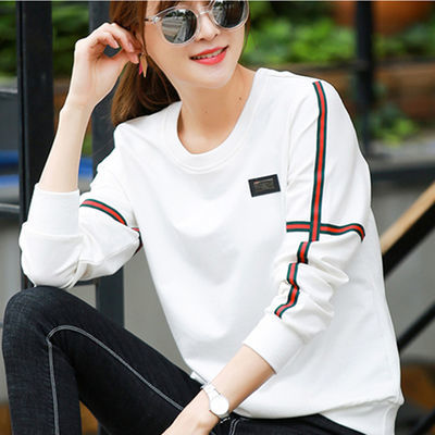 【春季上新】春秋装 长袖卫衣女 新款韩版宽松t恤女时尚气质上衣