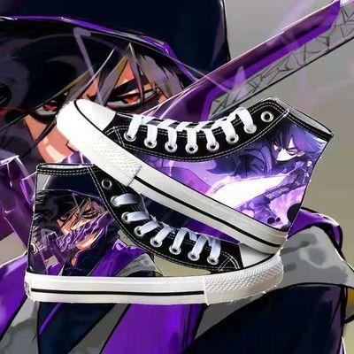 刺客伍六七梅十三周边动漫新款高帮男女休闲帆布鞋