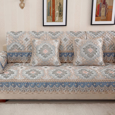 沙发垫欧式布艺四季通用现代简约防滑坐垫沙发套全包万能套巾罩