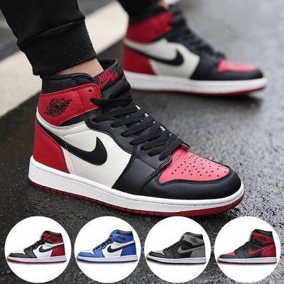 AJ1篮球鞋aj1高帮板鞋男鞋女鞋学生运动鞋情侣aj变色龙倒勾影子灰