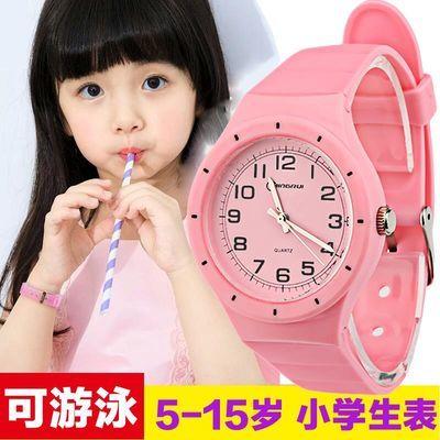 儿童手表女孩防水5-15岁小学生手表电子表小孩手表男孩石英表