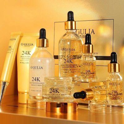 【尊享黄金8件套】正品24K黄金护肤品套装补水保湿美白祛斑化妆品