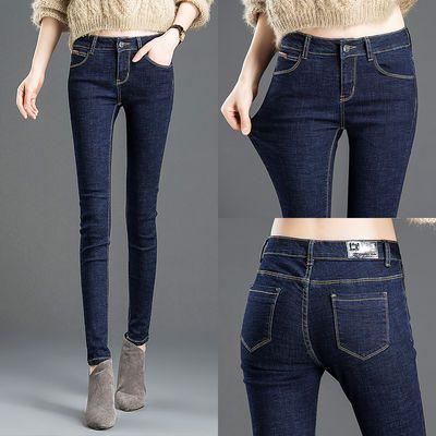 牛仔裤女春秋新款高腰韩版弹力显瘦显高女士紧身小脚铅笔裤子女