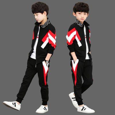 品牌10中大童装2020新款11儿童12男童春秋装13运动套装15岁男孩三