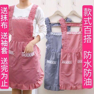 围裙韩版家用厨房罩衣防水防油女可爱漂亮时尚长袖上班男女工作服