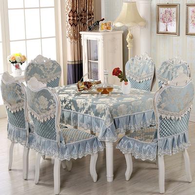欧式椅套椅垫桌布四季餐椅垫套装圆桌茶几布椅子套椅子垫绗缝夹棉