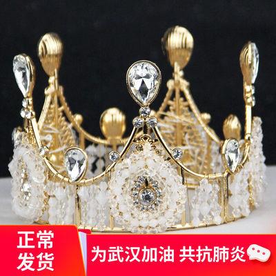 儿童小皇冠女孩发饰女童公主巴洛克结婚婚纱礼服奢华女王生日新娘
