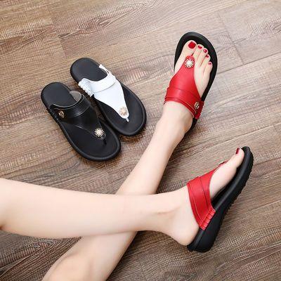 新款大码凉拖鞋女夏时尚人字拖女平底防滑凉鞋外穿显瘦夹趾凉拖鞋