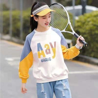 女童韩版卫衣中小童2020新款春秋冬加绒打底衫秋装中大童洋气上衣