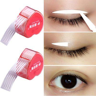 双眼皮贴隐形单面双面透气 尖角橄榄形蕾丝肤色气防水400/600贴