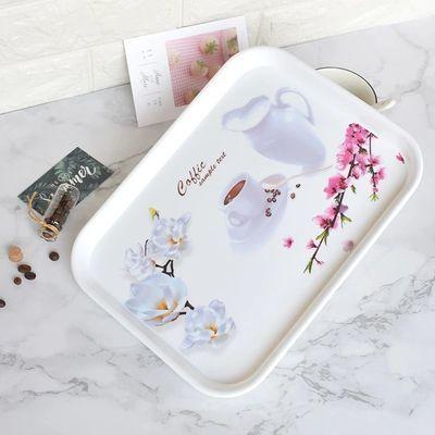托盘欧式家用长方形茶盘水杯茶杯托盘收纳盘杯子水果盘子创意茶盘