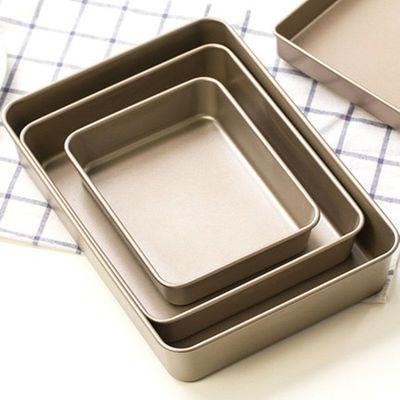方烤盘家用烤箱用 雪花酥模具不粘烤蛋糕面包饼干鸡翅牛轧糖烤盘