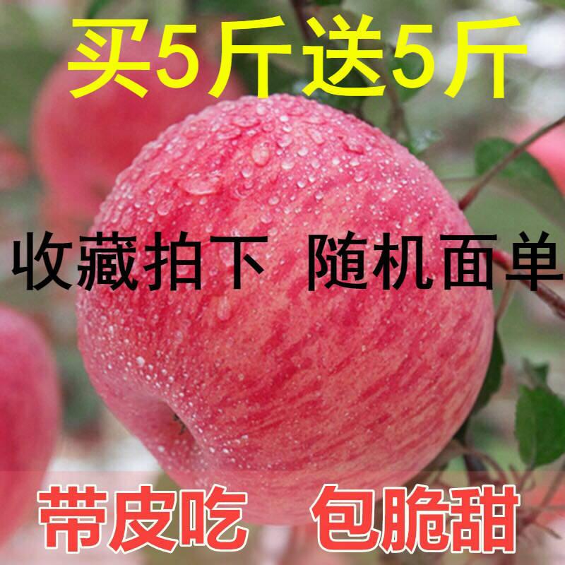 13276-陕西冰糖心红富士苹果新鲜水果3/5/10斤(果经70mm--100mm)不打蜡-详情图