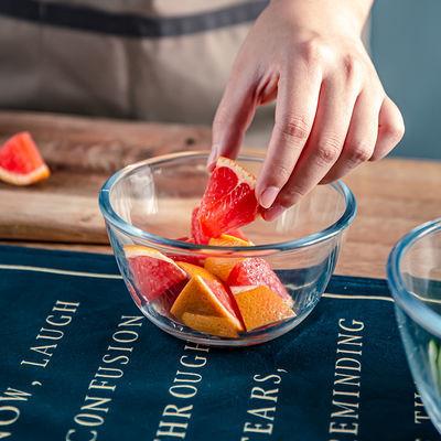 【耐热玻璃碗】透明碗水果蔬菜甜品沙拉碗家用汤饭碗微波炉烤箱
