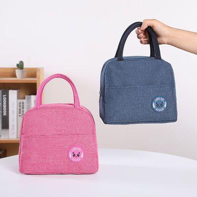 学生午餐包便携保温包保冷保鲜野餐包手提便当包帆布带饭包饭盒袋