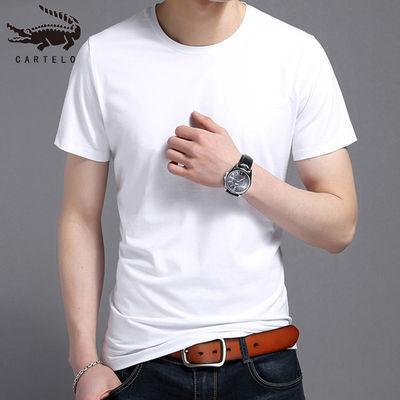 鳄鱼短袖T恤男夏季纯棉圆领修身半袖体恤新款百搭潮流青年男装薄
