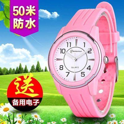 儿童手表男孩女孩防水韩版果冻电子表小学生手表可爱小孩石英表潮