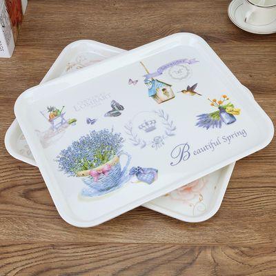 长方形密胺托盘家用茶盘水杯茶壶托盘塑料水果盘酒店客房收纳盘