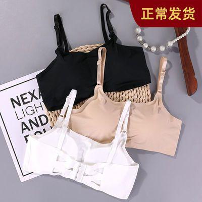 无痕内衣女学生韩版初中生高中生文胸薄款无钢圈裹胸抹胸内衣胸罩