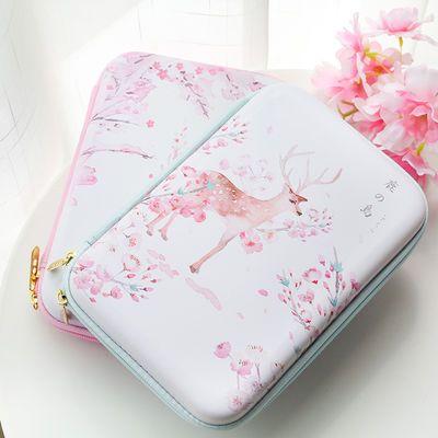 三年二班 鹿的岛大号笔袋Z粉色多功能大容量笔盒创意文具盒铅笔盒