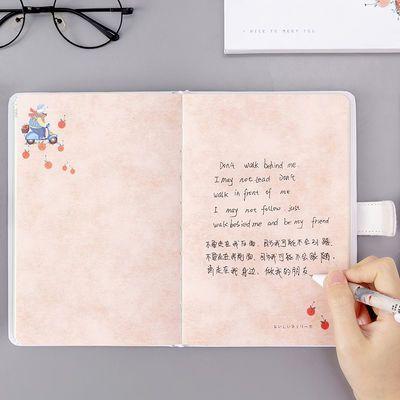 【送本子】可爱加厚手帐本 少女心网红手账本彩页磁扣学生笔记本