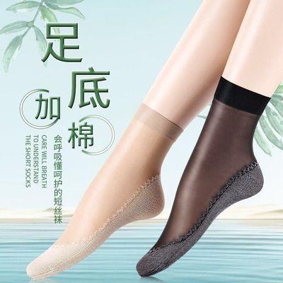防滑韩版上班族短袜松口裤袜中年水晶短丝袜夏季女童防磨公主透气