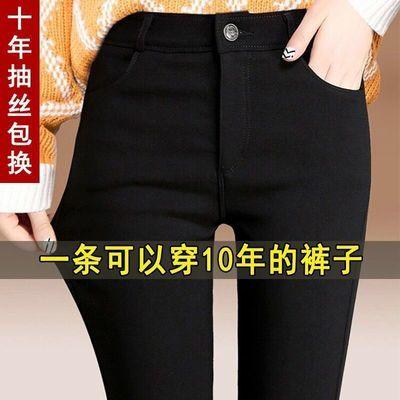 新款高弹魔术裤女学生韩版薄款铅笔裤黑色外穿打底裤子小脚长裤子