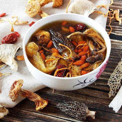 云南12种菌汤包羊肚菌牛肝菌松茸野生菌鸡枞茶树菇七彩煲汤料100g