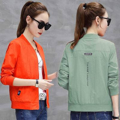 短外套女2020春秋装新款韩版女装棒球服百搭休闲大码宽松夹克上衣