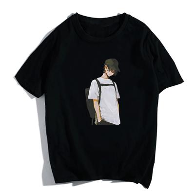 男士短袖t恤新款半截袖男装夏季潮流圆领宽松胖子大码简约上衣T恤