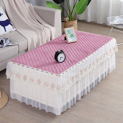 茶几桌布套罩电视柜盖布餐桌太不长方形客厅桌垫北欧茶几布蕾丝纱