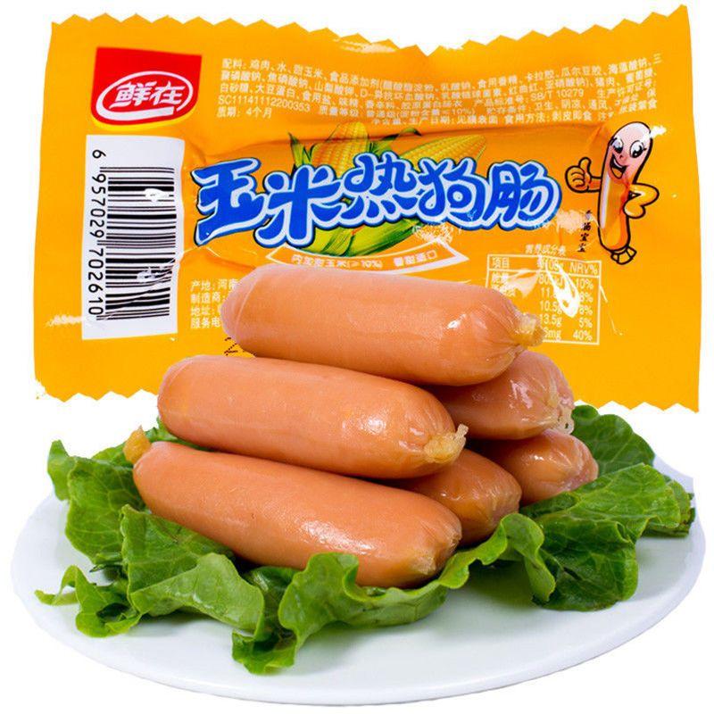 54202-鲜在香辣香脆肠玉米热狗肠即食火腿肠28g/香肠好吃的零食小吃批发-详情图