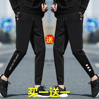 秋冬男士休闲裤男青少年韩版束脚修身运动裤子男