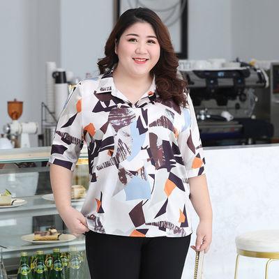 【布松大码】品牌女装新款春夏雪纺上衣韩版宽松通气送妈妈不掉色