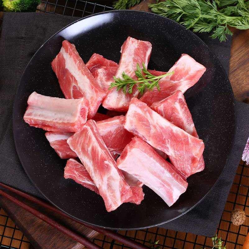 排骨五花肉新鲜排骨条猪肋骨生排骨五花猪肉带肉小排寸排顺丰包邮