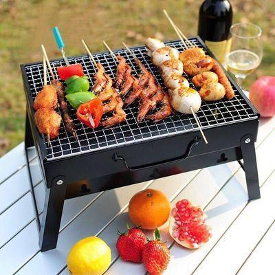 烧烤架户外木炭烧烤炉家用便携BBQ加厚烤肉箱全套野外工具1-6人